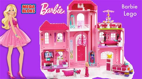 dream house barbie mega bloks barbie luxury mansion barbie life in the dream house megabloks compilation