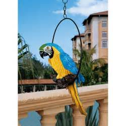 Parrot Decorations Home by Parrot Statue Tropical Bird Hanging Sculpture Patio Garden
