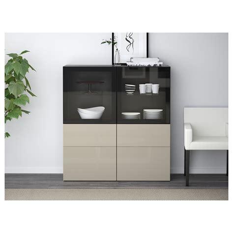 ikea besta glass shelf best 197 storage combination w glass doors black brown