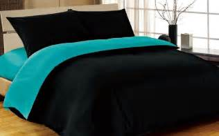 King Size Bedding Teal 6pc Complete King Bed Size Reversible Black Teal
