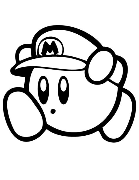 nintendo kirby coloring pages to print kirby coloring pages kirby mario coloring page free