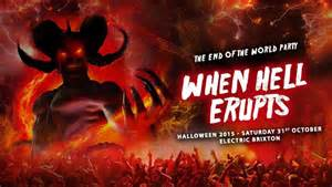 when the world is ra the end of the world party halloween 2015 when hell erupts at electric brixton london