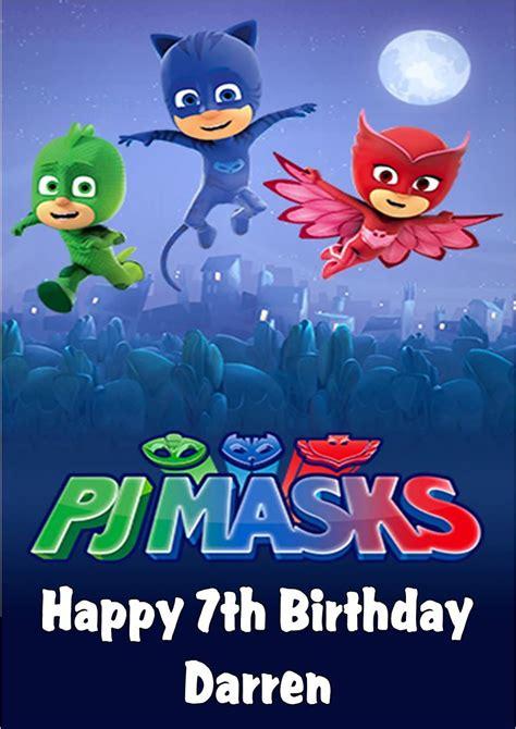 pj masks birthday card template pj masks printable birthday card masks for acne