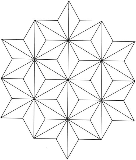 geometric star design coloring sheets pinterest