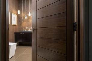 Modern Bathroom Doors Las Vegas Modern Home Interior Solid Wood Walnut Door Modern Bathroom Denver By