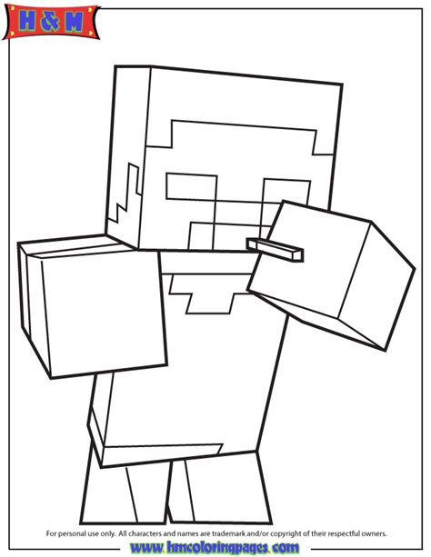 minecraft herobrine coloring pages car pictures