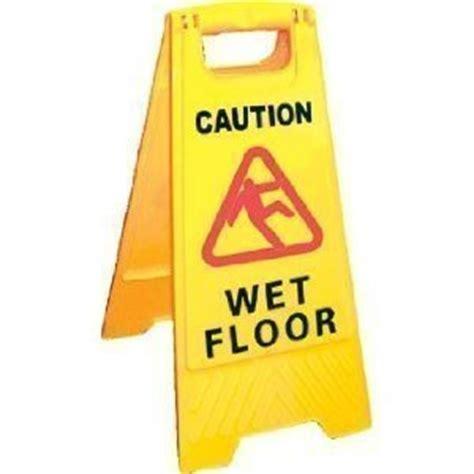 Caution Wet Floorcaution Cleaning  Progress Sign