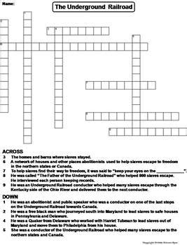 puzzle corner the science spot underground railroad worksheet wiildcreative