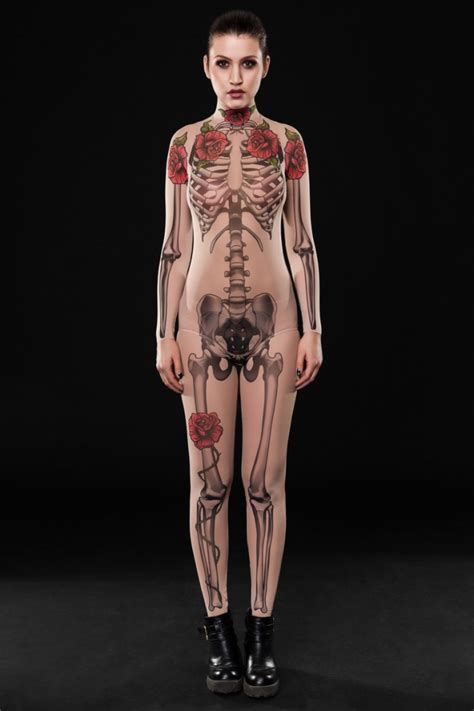 tattoo body mesh halloween sexy mesh skeleton tattoo bodysuit dirrtytown