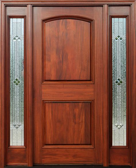 Exterior Door Finishes Mahogany Doors With Sidelights Pre Finished
