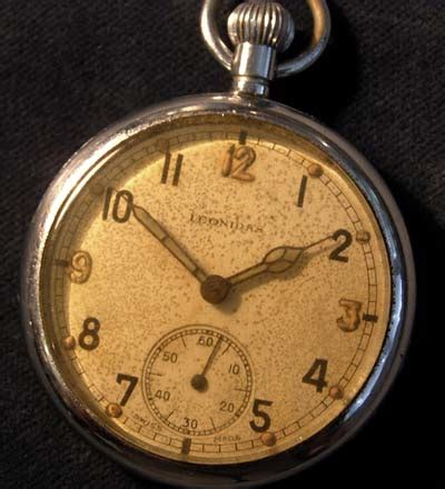 army trade pattern watch leonadis pocket watch ww2 british army g s t p