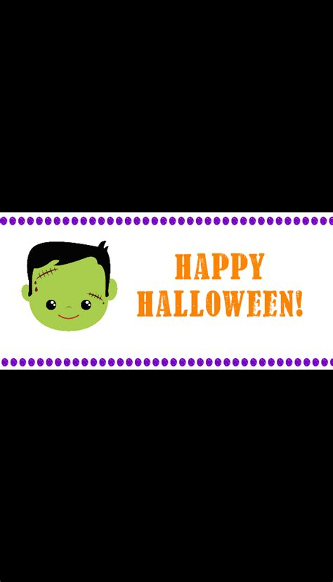 printable halloween candy bar wrappers crazy