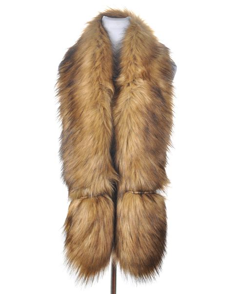 luxury faux fur scarf luxe wholesale