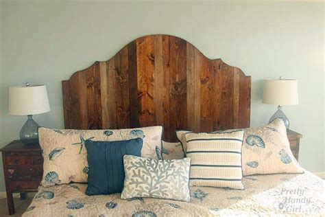 making a rustic headboard how to create a rustic wood king headboard pretty handy girl