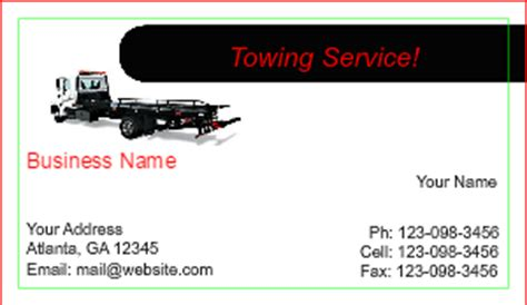 towing business cards templates tow truck business cards designsnprint