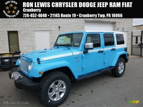 jeep chief color 2017 chief blue jeep wrangler unlimited chief edition 4x4
