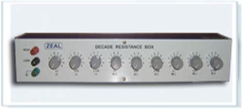 decade resistance box model 8000 decade resistance box decade resistance boxes manufacturer india