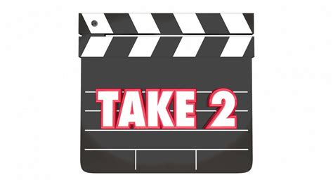 Take Two take 2 two retry redo clapper 3 d animation