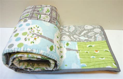 Patchwork For Babies - modern baby quilt baby boy quilt backyard baby quilt toddler