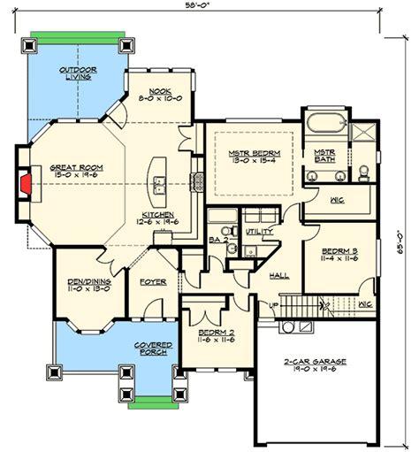 outdoor living floor plans rambler with outdoor living room 23381jd architectural