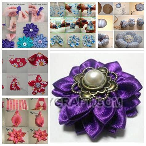 diy beautiful wonderful diy beautiful fabric flowers in 6 ways