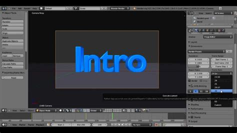 Blender Tutorial Introduction | blender 2 62 tutorial how to make an intro youtube