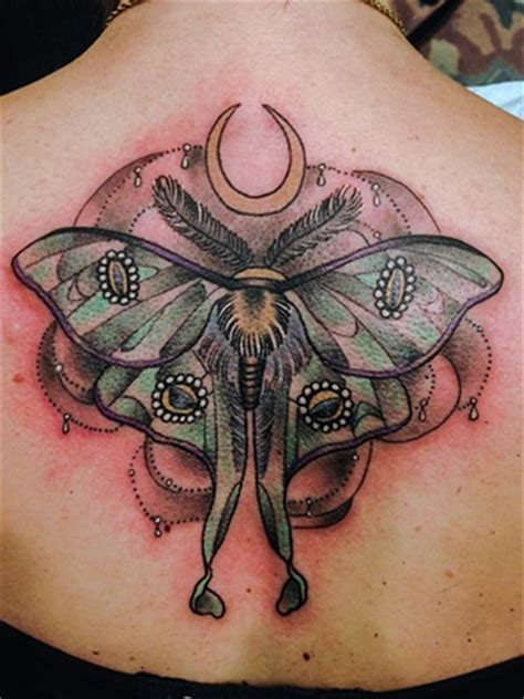 luna moth tattoo moth designs