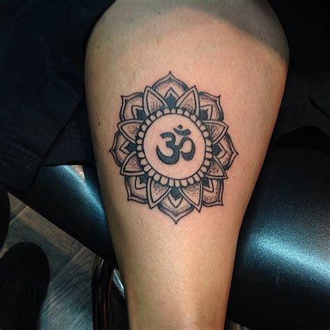 mandala tattoo with om mandala om lotus tattoo tattoos spiritual om mandala