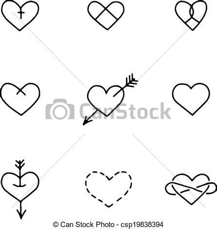 imagenes de infinitos blanco y negro eps vectores de conjunto nueve mano dibujado corazones