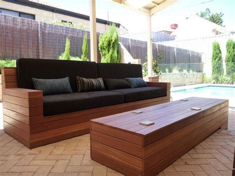 Deck Furniture Ideas by 25 Best Ideas About Homemade Outdoor Furniture On