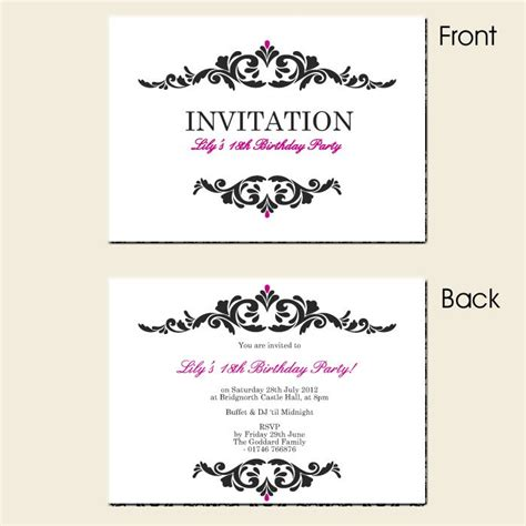 Free Printable Surprise 18th Birthday Invitations 18th Invitation Templates