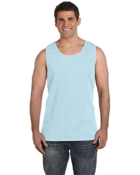 comfort colors chambray comfort colors c9360 ringspun garment dyed tank