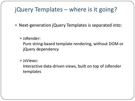 jsviews next generation jquery templates