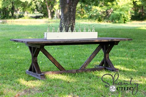 shanty to chic farmhouse table diy dining table for only 65 shanty 2 chic