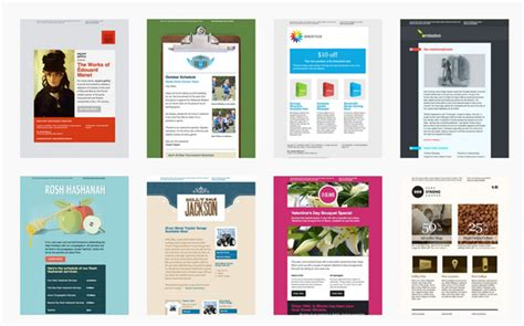 mailchimp templates 40 cool email newsletter templates for free