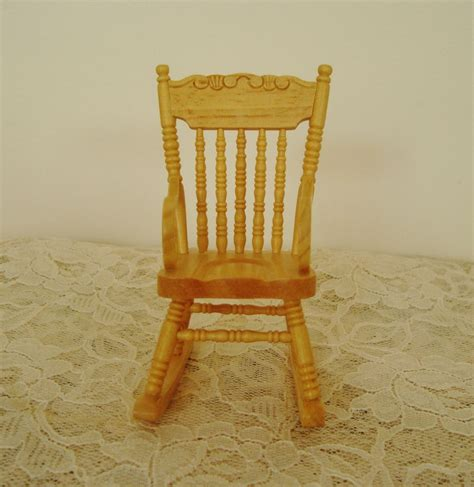 Mini Rocking Chair by Miniature Rocking Chair Dollhouse Wood Furniture Rocker