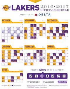 lakers home schedule lakers printable schedule calendar template 2016