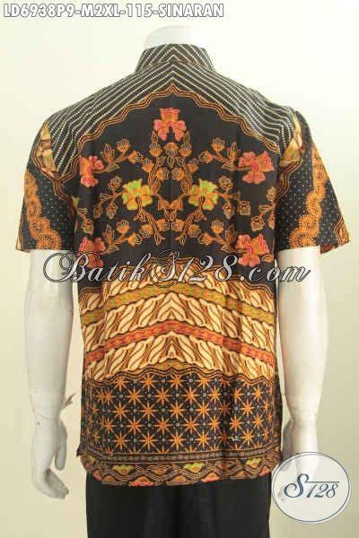 Kemeja Lengan Pendek Batik Sinaran 2 batik kemeja elegan busana batik klasik motif sinaran lengan pendek untuk kerja dan acara