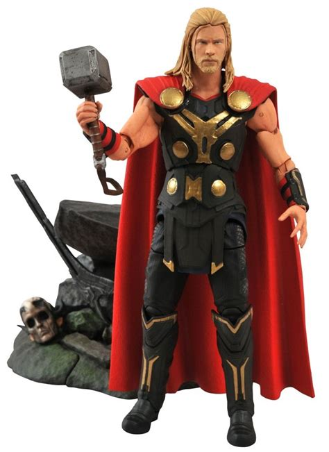 film action thor marvel select thor the dark world figures officially