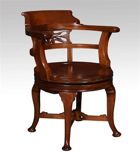 antique swivel desk chair mahogany swivel desk chair antiques atlas
