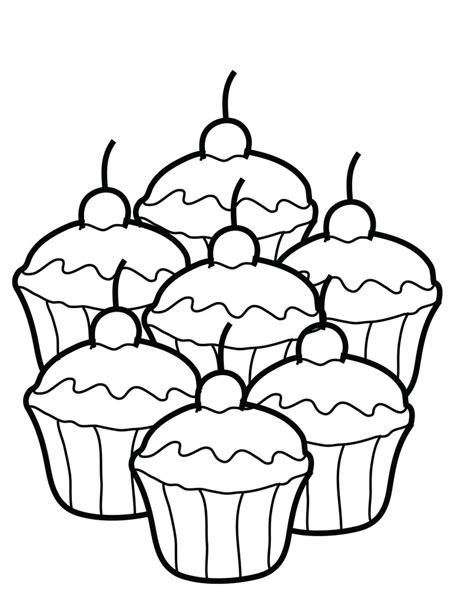 printable cupcake coloring pages  kids