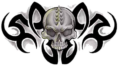 download tribal skull tattoos free png image hq png image