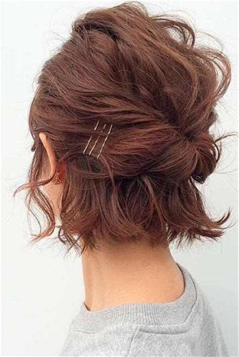 updo hairstyles for short hair easy 25 best ideas about bob updo hairstyles on pinterest