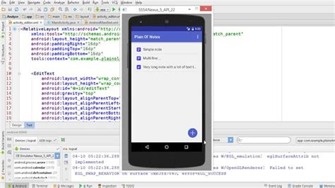 android studio tutorial notes building a note taking app for android