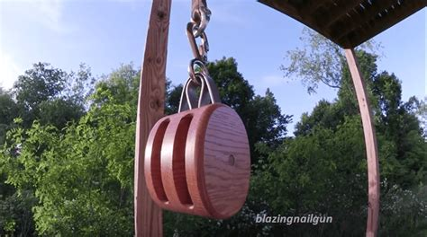 video building your own vintage block and tackle pulley