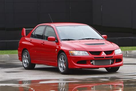 mitsubishi evo red awd lancer autos post