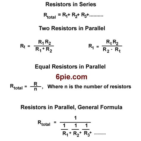 resistor equations adding resistance in an electronic circuit