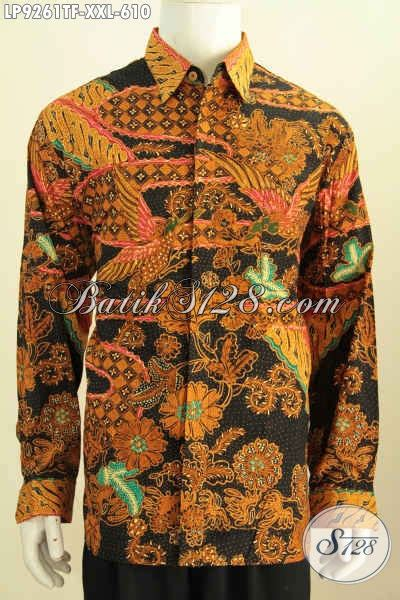 Kemeja Premium Jumbo hem lengan panjang batik ukuran jumbo kemeja batik tulis