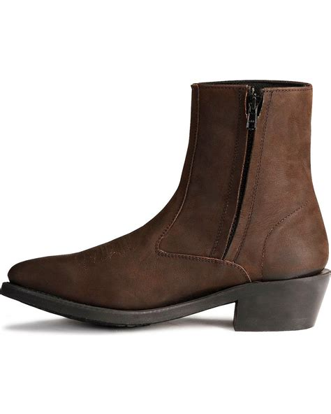 western ankle boots west s zipper western ankle boot mz7082 ebay