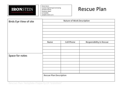 confined space plan template confined space rescue plan template nz templates